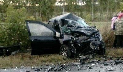 На трассе в Ульяновской области столкнулись «Гранта» и Volkswagen – погибли двое