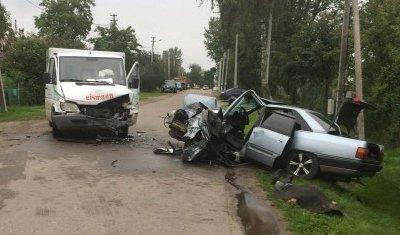 Водитель Audi погиб в лобовом ДТП в Калининградской области