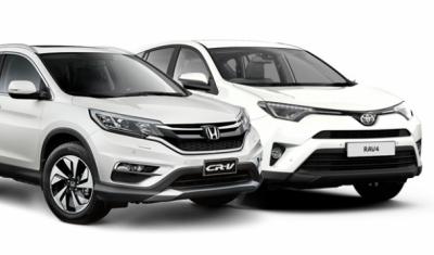 Японские кроссоверы Toyota RAV4 и Honda CR-V стали лидерами мировых продаж