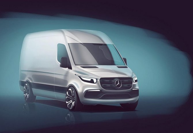 Mercedes-Benz Sprinter 2018: первые официальные изображения