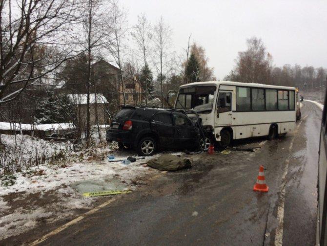 В ДТП с маршруткой во Всеволожском районе Ленобласти погиб человек (2)
