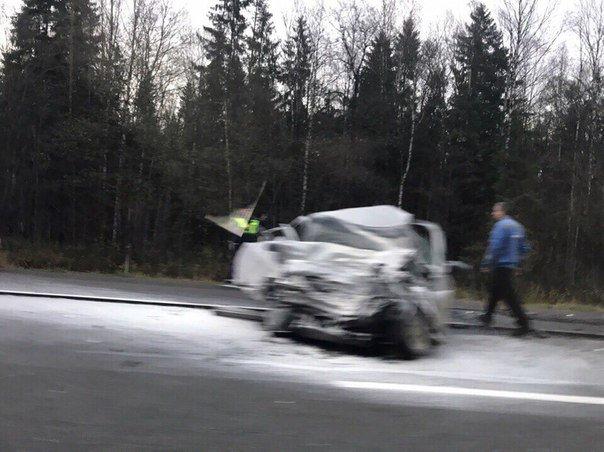 Водитель ВАЗа погиб в ДТП под Гатчиной (2)