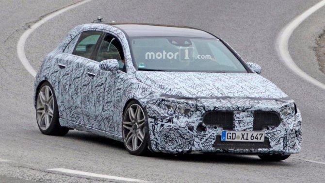 Новый Mercedes-AMG A45 замечен на дорожных тестах