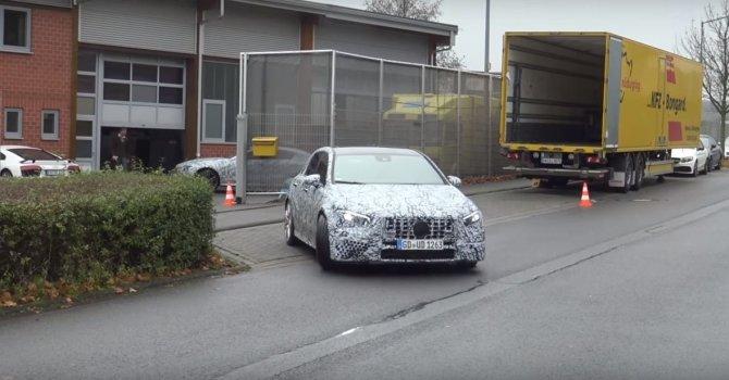 В Сети появилось видео с тестов нового Mercedes-Benz A-Class