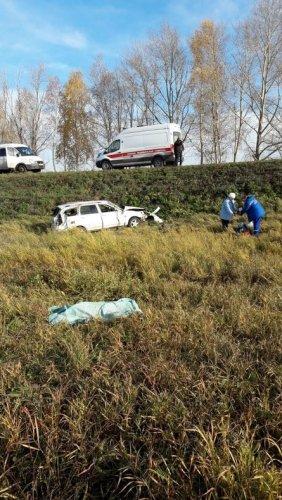 Под Уфой в опрокинувшемся автомобиле погибла женщина (1)