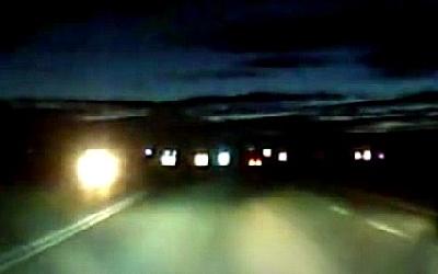 В Челябинской области водитель снял на видео лобовое столкновение с коровой