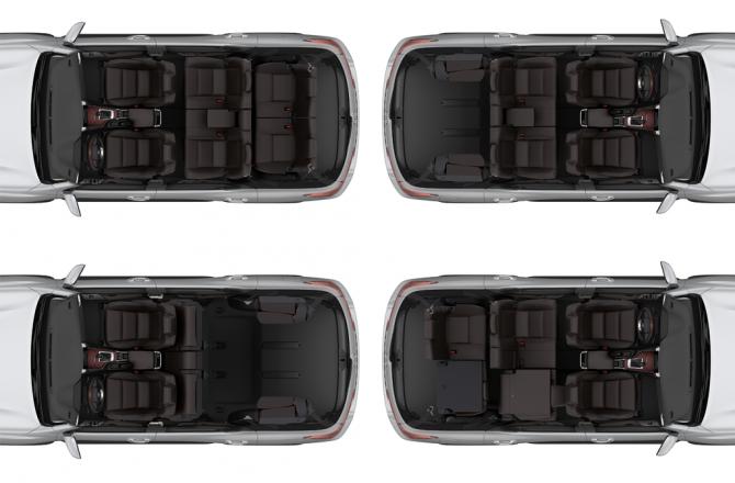 Toyota Fortuner конфигурация салона