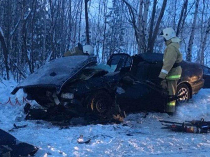 Два человека погибли в ДТП с микроавтобусом в Томской области (1)