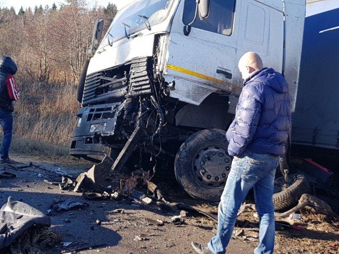 Под Владимиром столкнулись фура и Mercedes – погиб водитель легковушки (3)