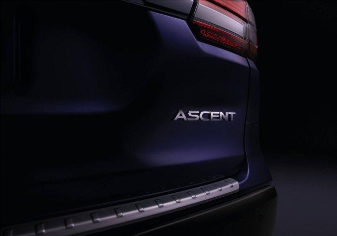 В Сети появился тизер серийной версии семиместного кроссовера Subaru Ascent