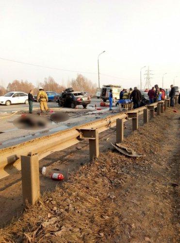 Два человека погибли в лобовом ДТП в Уфе (1)