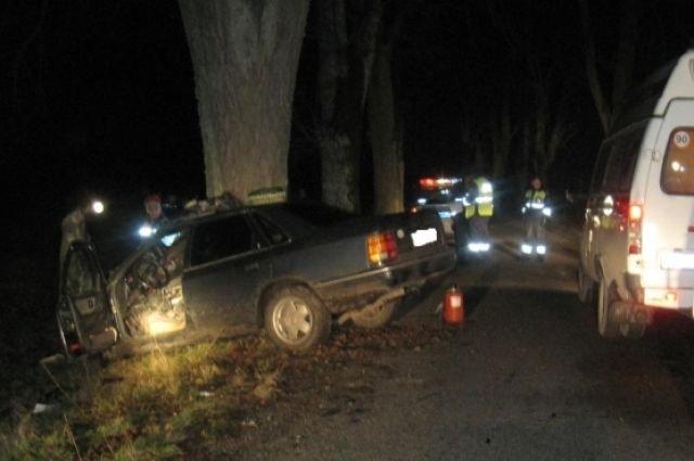 Под Славском иномарка врезалась в дерево погибла 17-летняя девушка (2)