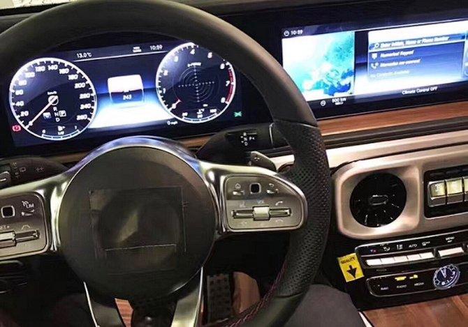 В Сети появились фото салона нового Mercedes-Benz G-Class Gelandewagen (1)