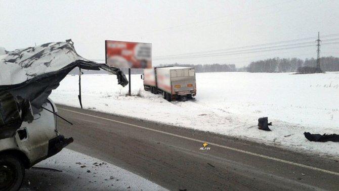 Грузовик раздавил легковушку в Новосибирской области – водитель чудом выжил (3)