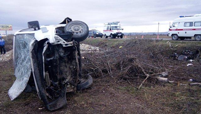 Два человека погибли в тройном ДТП под Симферополем (1)