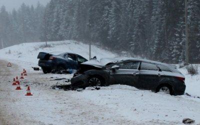 Женщина-водитель иномарки погибла в ДТП в Верховажском районе