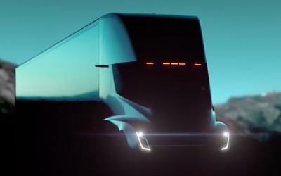 Tesla обнародовала видеотизер перед презентацией своего супергрузовика