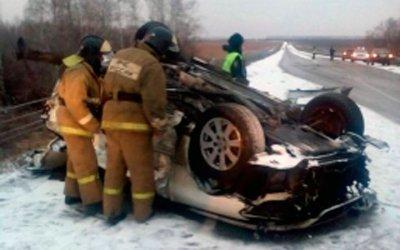 Четыре молодых человека погибли в ДТП с автобусом в Алтайском крае