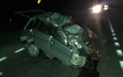 В Абинском районе в ДТП с грузовиком погиб водитель ВАЗа