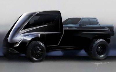 Tesla показали эскиз огромного пикапа