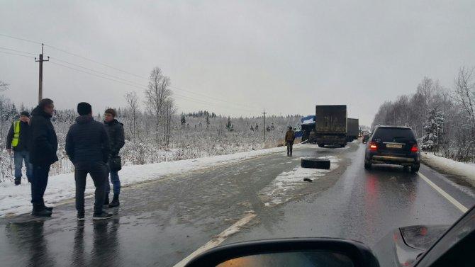 В ДТП с грузовиками на трассе «Кола» погиб человек 2