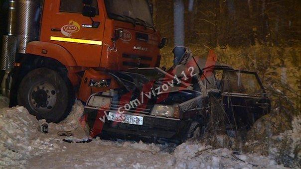 19-летний парень погиб в ДТП со снегоуборочной машиной в Зеленодольском районе Татарстана (2)