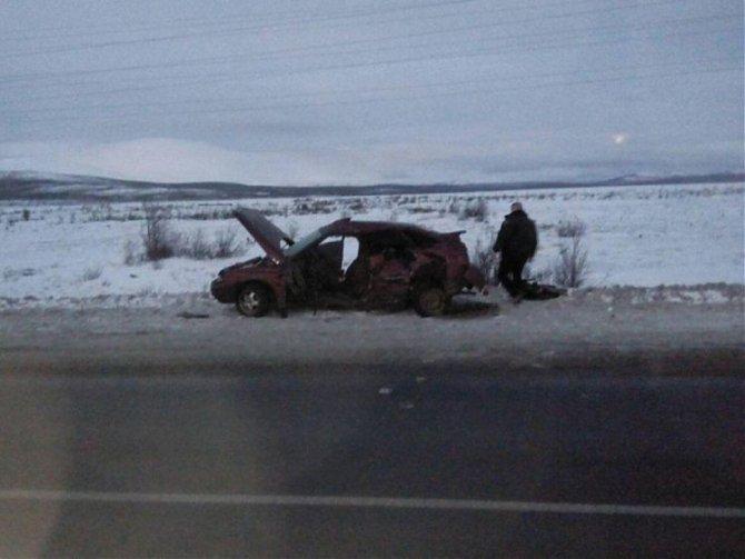 В ДТП под Мончегорском на трассе «Кола» погиб водитель ВАЗа (1)