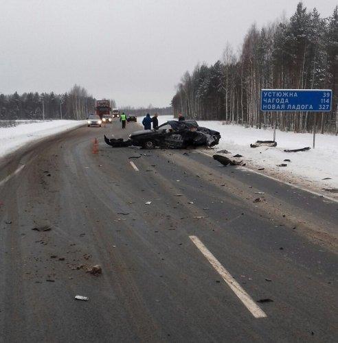 18-летний пассажир иномарки погиб в ДТП в Вологодской области (3)