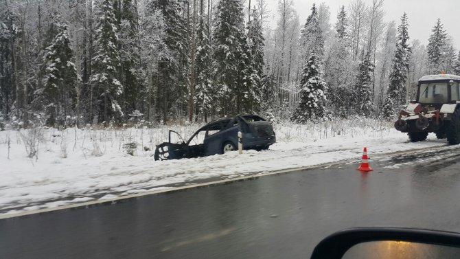 В ДТП с грузовиками на трассе «Кола» погиб человек 1