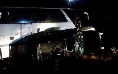 На Кубани в ДТП с автобусом пострадали четыре человека