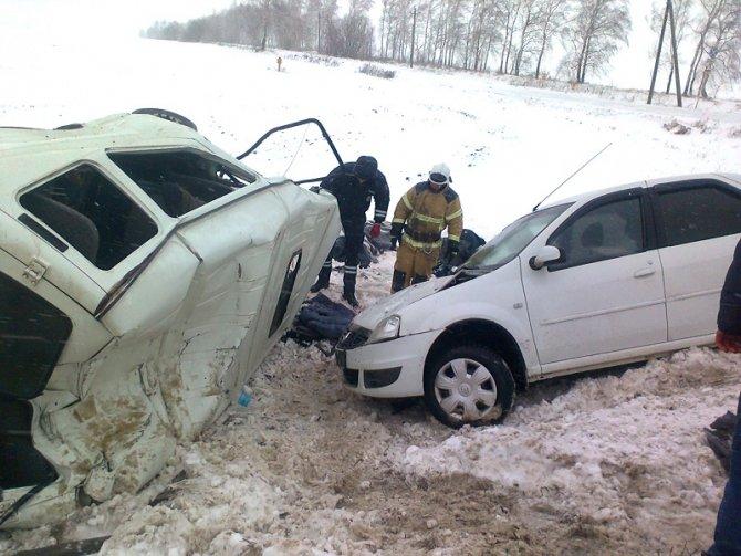 Два человека погибли в ДТП с полицейской машиной в Орловской области (2)