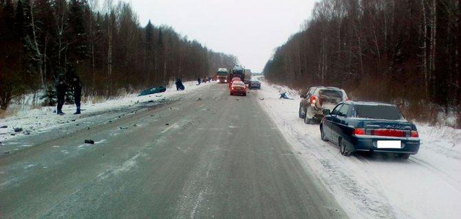 Тройное ДТП в Удмуртии, 7 января, трасса