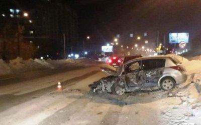 Пьяный водитель спровоцировал ДТП в Новосибирске