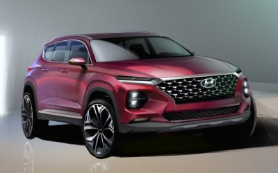 Перед премьерой опубликованы первые изображения новой Hyundai Santa Fe
