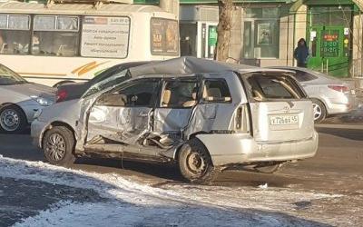 Три человека пострадали в ДТП с маршруткой в Кургане