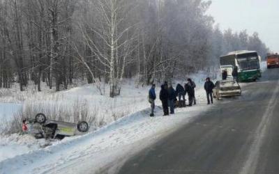 Три человека пострадали в ДТП с автобусом в Бугульминском районе