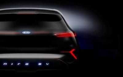 KIA опубликовала тизеры нового электро-кроссовера Niro EV перед премьерой