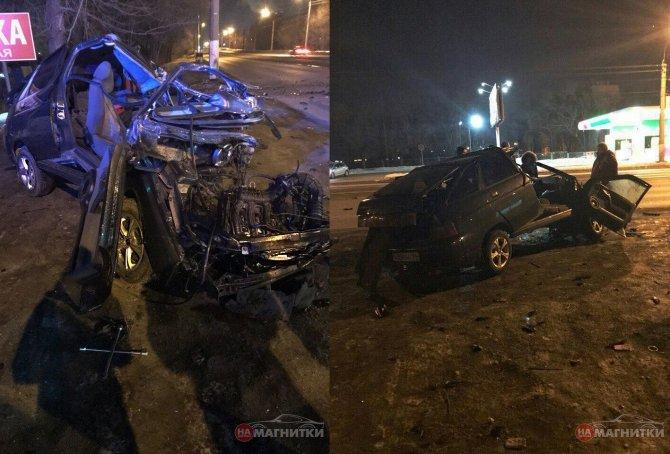 В Магнитогорске автомобиль врезался в столб водитель погиб (2)