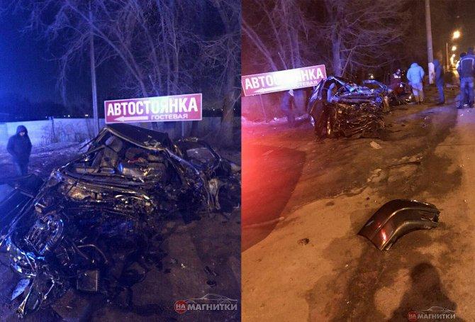 В Магнитогорске автомобиль врезался в столб водитель погиб (1)