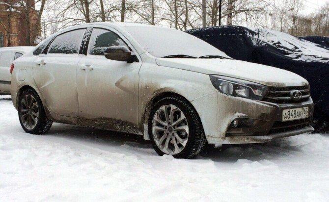 Lada Vesta Sport заснята в Сургуте