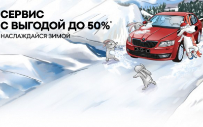 Цены падают, как снежинки! Сервис SKODA с выгодой до 50%!