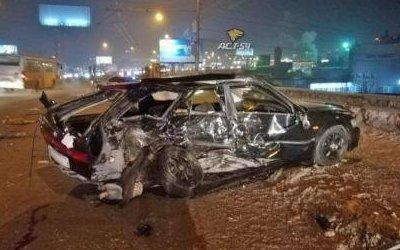 Пассажир иномарки погиб в ДТП на Димитровском мосту в Новосибирске