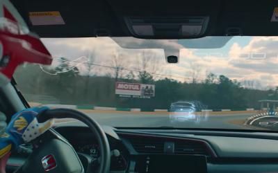 Honda превратила лобовое стекло в экран для гоночной видеоигры