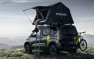 Peugeot представил минивэн Rifter, укомплектовав его палаткой и велосипедом