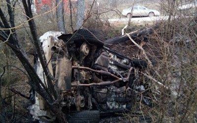 Женщина погибла в сгоревшем автомобиле под Феодосией