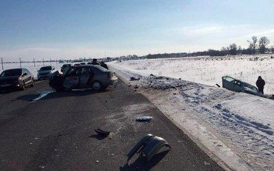 В лобовом ДТП на трассе Дюртюли-Нефтекамск погибла женщина