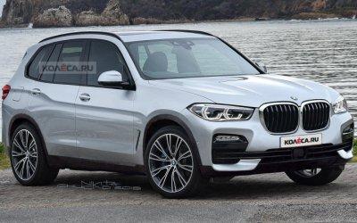 В Сети появился независимый тизер новой версии BMW X5 от российских дизайнеров