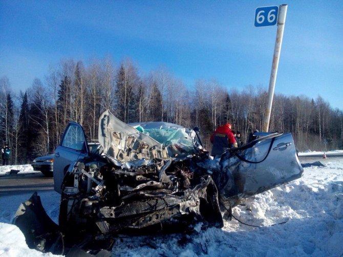Водитель иномарки погиб в ДТП с автобусом на трассе Пермь – Чусовой (2)