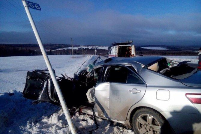 Водитель иномарки погиб в ДТП с автобусом на трассе Пермь – Чусовой (1)