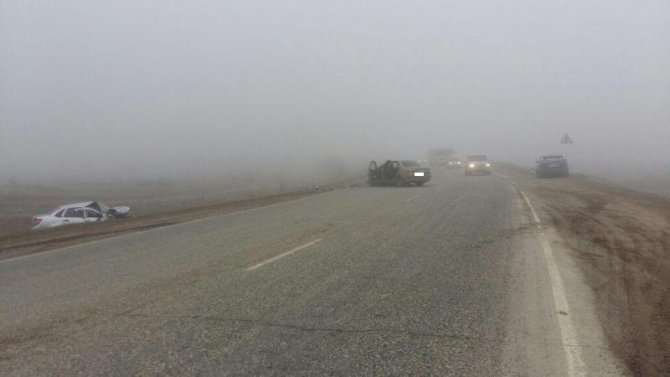 Три человека пострадали в ДТП в тумане на Ставрополье (1)